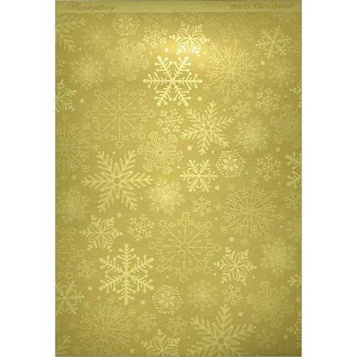 Hunkydory Christmas Mirri Card - Stylish Snowflakes - Gold A4