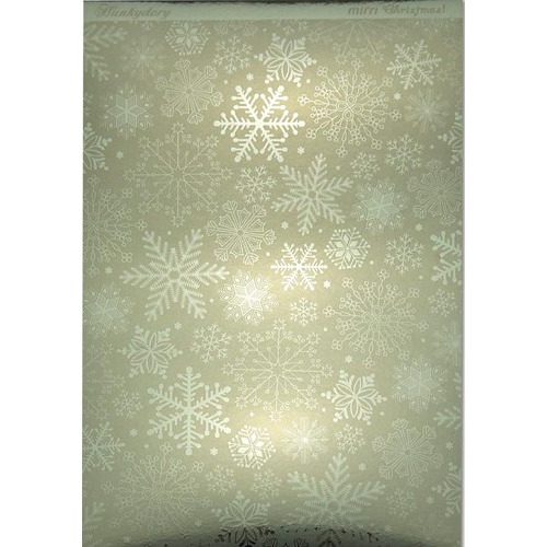 Hunkydory Christmas Mirri Card - Stylish Snowflakes - Silver A4