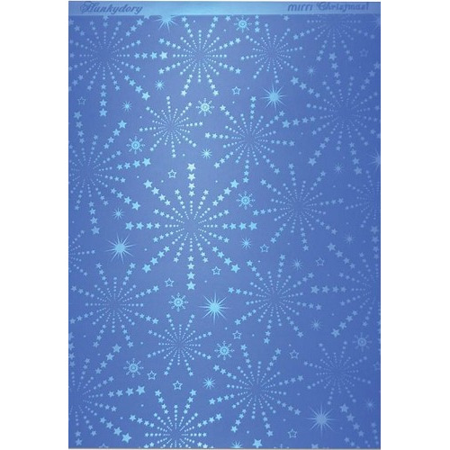Hunkydory Christmas Mirri Card - Stunning Starburst - Blue A4