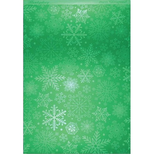 Hunkydory Christmas Mirri Card - Stylish Snowflakes - Green A4