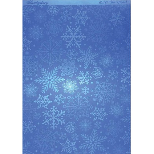 Hunkydory Christmas Mirri Card - Stylish Snowflakes - Blue A4