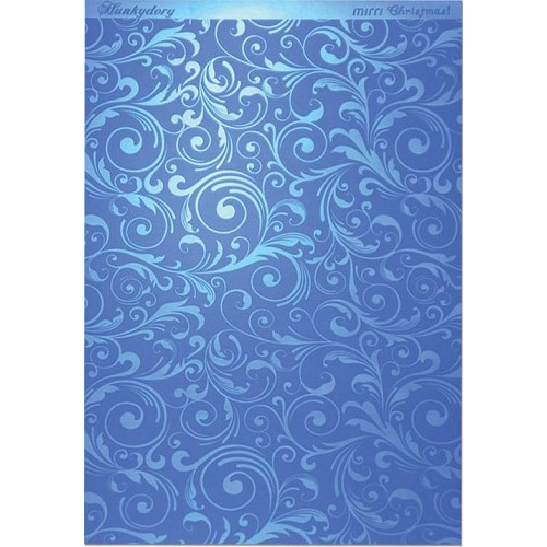Hunkydory Christmas Mirri Card - Flourishing Swirls - Blue A4