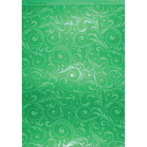 Hunkydory Christmas Mirri Card - Flourishing Swirls - Green A4