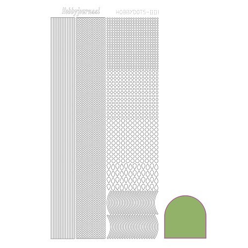 Hobbydots sticker - Mirror - Lime