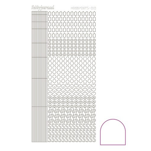 Hobbydots sticker - Adhesive - White