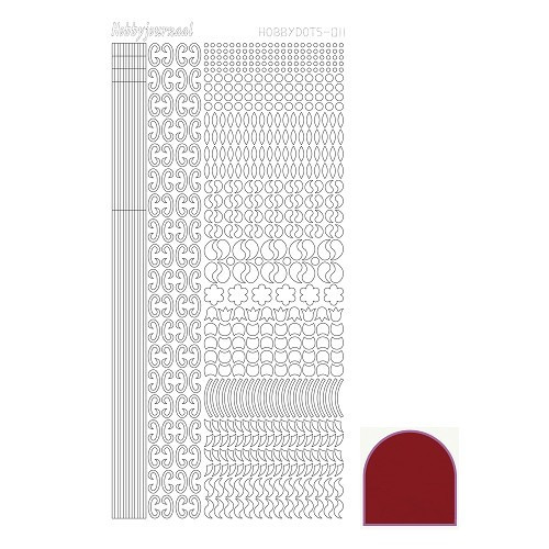 Hobbydots sticker - Mirror - Red