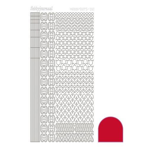 Hobbydots sticker - Adhesive - Red