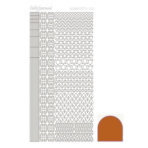 Hobbydots sticker - Mirror - Copper