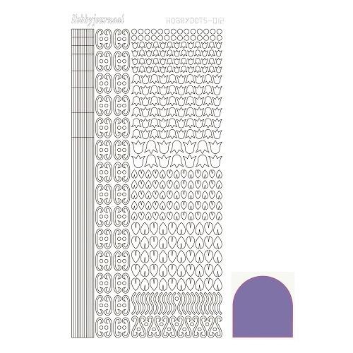 Hobbydots sticker - Mirror - Purple