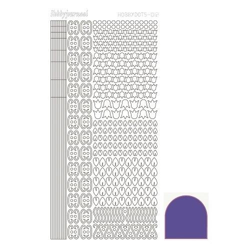 Hobbydots sticker - Mirror - Violet