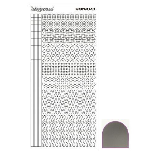 Hobbydots sticker - Mirror - Zilver