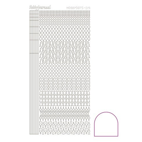 Hobbydots sticker - Adhesive White