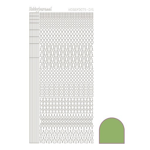 Hobbydots sticker - Mirror Lime