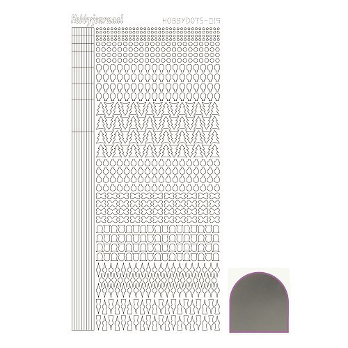 Hobbydots sticker - Mirror Silver