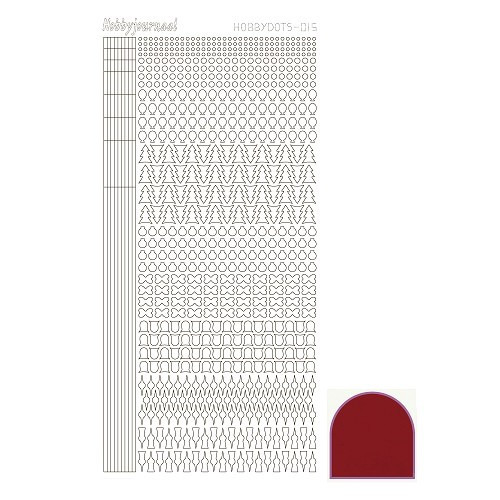 Hobbydots sticker - Mirror Red