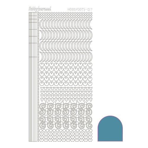 Hobbydots sticker - Mirror Turquoise
