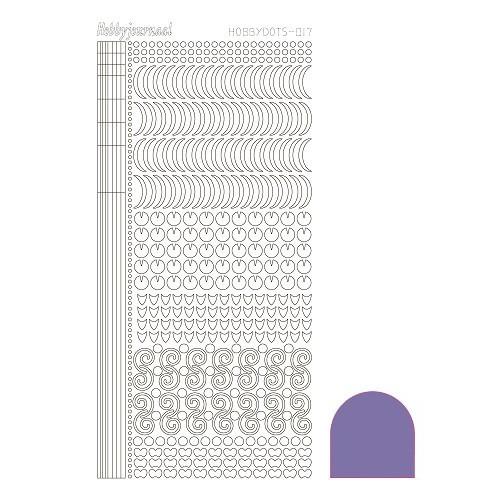 Hobbydots sticker - Mirror Purple