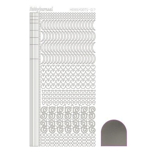 Hobbydots sticker - Mirror Silver