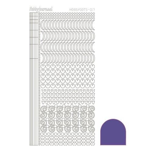 Hobbydots sticker - Mirror Violet