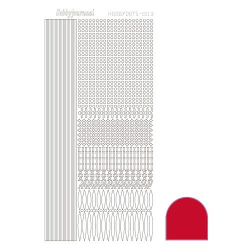 Hobbydots sticker - Adhesive - Red