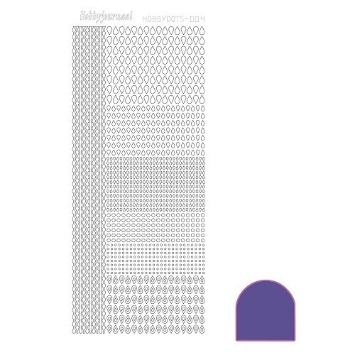 Hobbydots sticker - Mirror - Purple