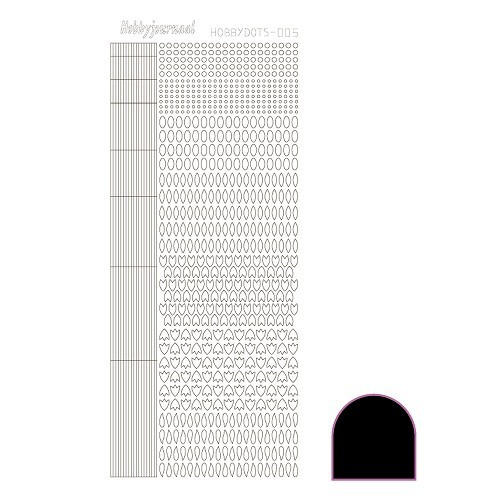 Hobbydots sticker - Adhesive - Black