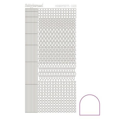 Hobbydots sticker - Adhesive - White