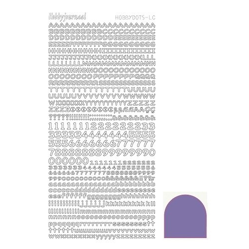 Hobbydots sticker Mirror - Violet