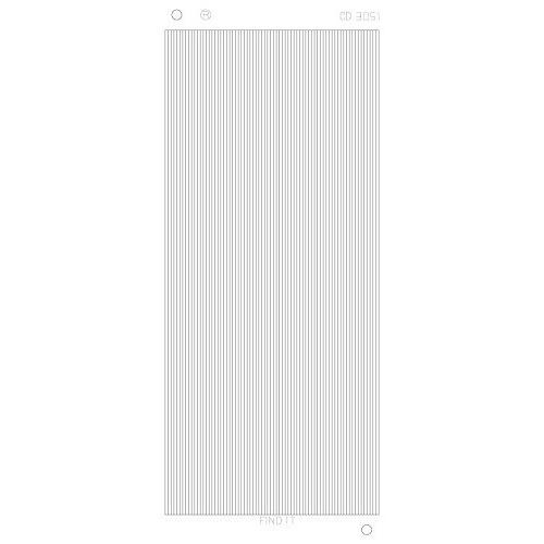 Platinum Sticker Zilver - Rechte lijnen CD3051