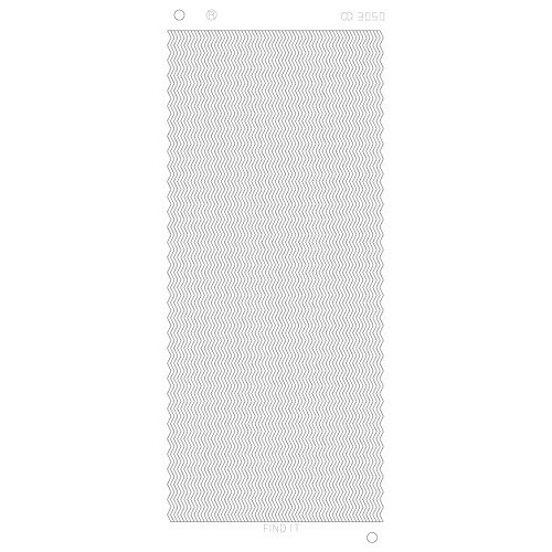 Platinum Sticker Zilver - Zig-zag lijnen CD3050