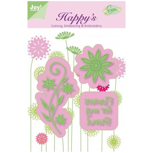 Joy! stencil flowers for my friend #JUN