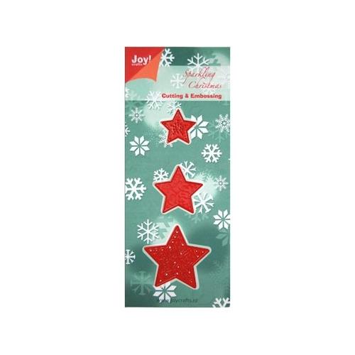 Joy! stencil kerst 3 kerststerren #AUG
