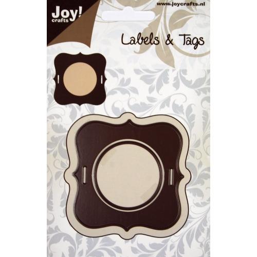 Joy! stencil label 65x65 mm #OKT