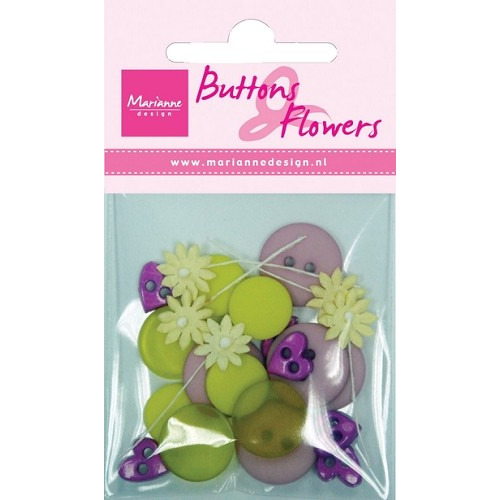 Buttons en flowers spring