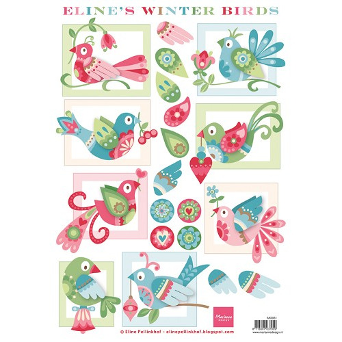 Marianne Design 3D Knipvellen - Eline`s Winter birds #sep14