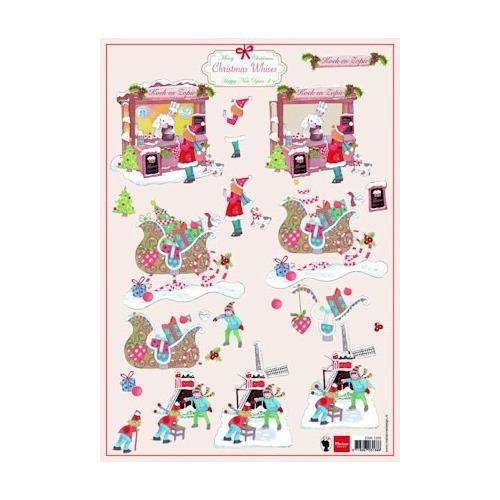 A4 knipvel Christmas wishes 1 #SEP
