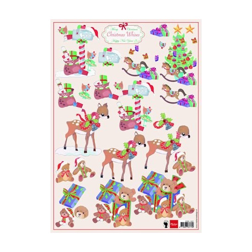 A4 knipvel Christmas wishes 3 #SEP