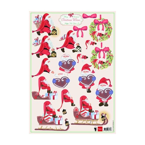 A4 knipvel Christmas wishes 4 #SEP
