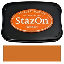 Tsukineko StazOn Pumpkin Solvent Ink Pad (SZ-92)