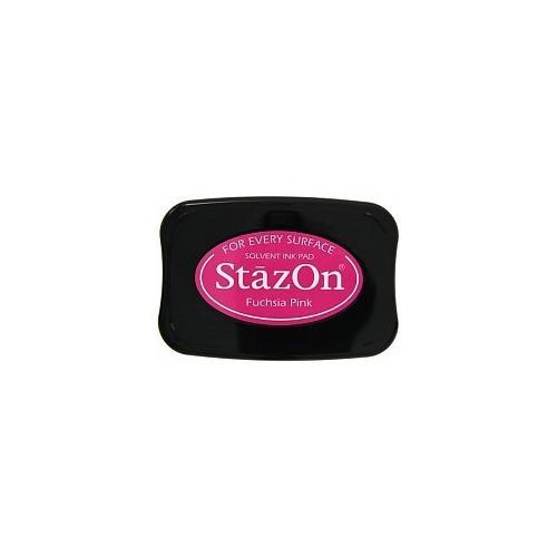 Tsukineko StazOn Fuchsia Pink Solvent Ink Pad