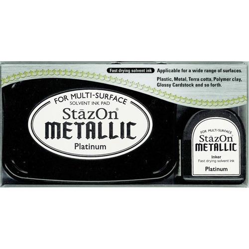 Stazon inktkussen - voor niet-poreuze oppervlakken - Platinum Me