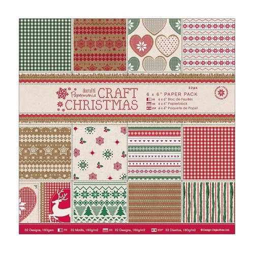6 x 6 Paper Pack (32pk) - Craft Christmas