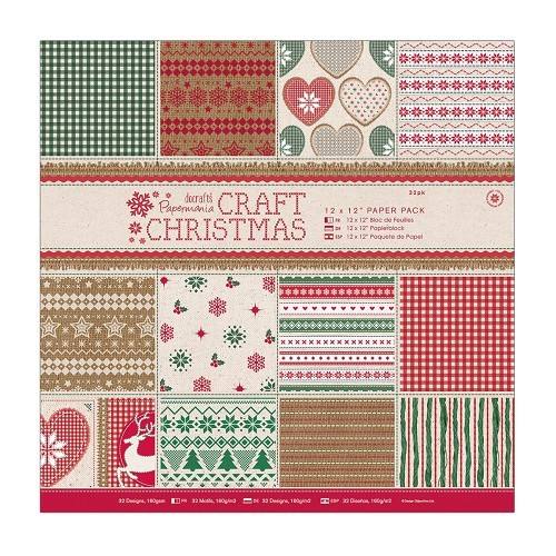 12 x 12 Paper Pack (32pk) - Craft Christmas