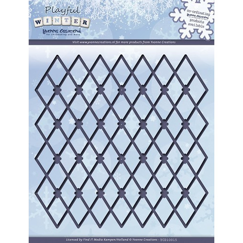 Die - Yvonne Creations - Playful Winter - Trellis Frame