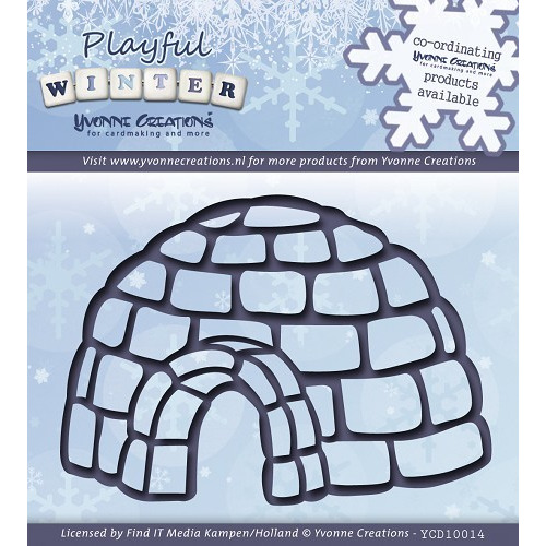 Die - Yvonne Creations - Playful Winter - Igloo