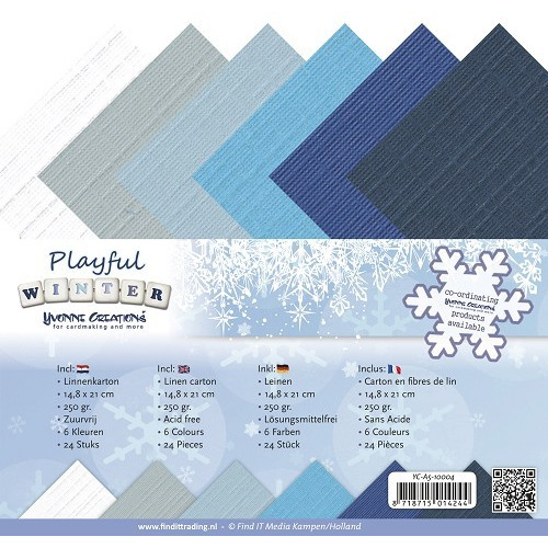 Linnenpakket - A5 - Yvonne Creations - Playful Winter