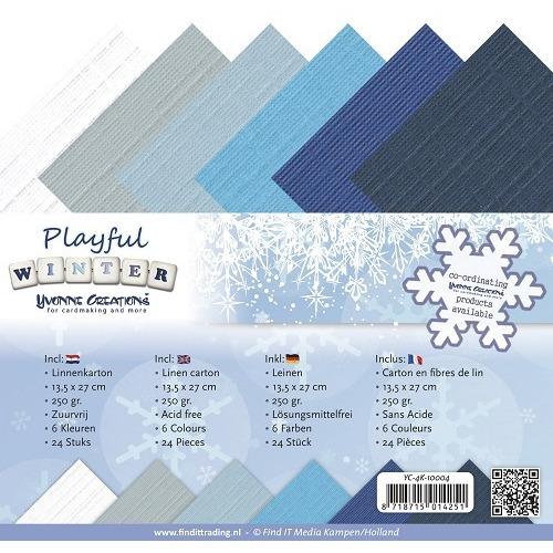 Linnenpakket - 4K - Yvonne Creations - Playful Winter
