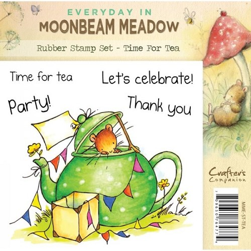 Moonbeam Meadow Rubber Stamp - Time For Tea