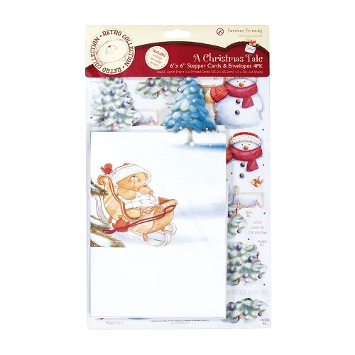 6x6 Stepper Cards & Envelopes (4Pk) - A Christmas Tale