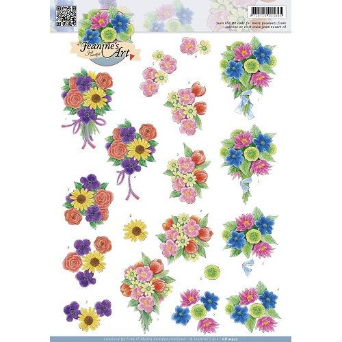 3D Knipvel - Jeanines Art - Flora